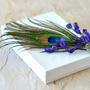 Peacock Feather Lavender Jewelry Gift Box  Wedding by Vdesign2009