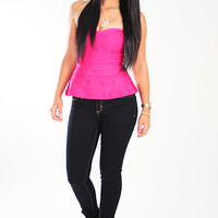 Middle Of The Night Top: Fuchsia