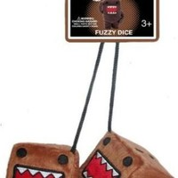 Domo Kun - Pair of Fuzzy Dice for Rear View Mirror