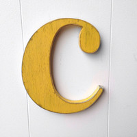 "Wood wall letter LOWERCASE ""c"" - YOU CHOOSE - 7 1/2"" tall"