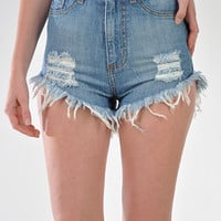 High Times High Waisted Denim Cutoffs | Bloody-Fabulous