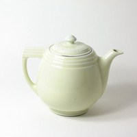 Vintage Ceramic Teapot Coffee Pot Pastel Yellow by BridgewoodPlace