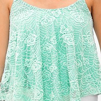 Daytrip Lace Overlay Tank Top