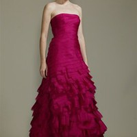 "Organza ""flamenco"" gown"