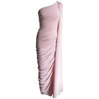 Estevez Vintage Glamour One Shoulder Gown