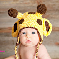 Pdf Giraffe Crochet Hat Pattern 0-3 Month Only | Luulla