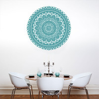 Wall Decal Vinyl Sticker Decals Art Decor Design Mandala Ganesh Indian Ornament Buddha Pattern Damask Bedroom Family Gift Dorm Modern (r293)