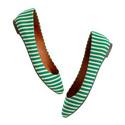 The Bungalow Stripe Sidewalk Skimmer - shoes & sandals - Women's NEW ARRIVALS - Madewell