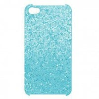 iPhone 4 4S Hard Shell Glitter Cover DIVA Case - Baby Blue