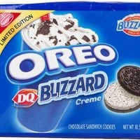 Oreo DQ Blizzard Creme Chocolate Sandwich Cookies - Limited Edition