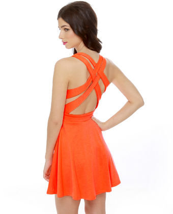 Darling Orange Dress - Neon Dress
