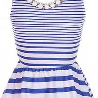 The Peplum Striped Top - 29 N Under