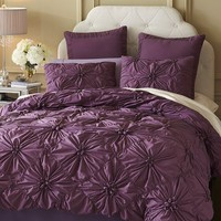 Savannah Bedding & Duvet - Plum