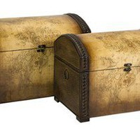 Marco Polo Nested Storage Trunks - Set of 2 | Stunique