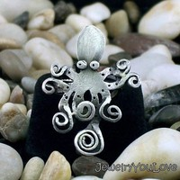 sterling Silver Octopus Ring Olivia by JYLbyPeekliu on Etsy