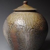 Covered Jar Wood Fired