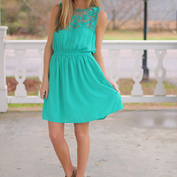 Sheer Luck Dress, Jade
