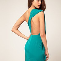 One Shoulder Dress With Open Back at ASOS