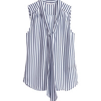 Sleeveless Tie Blouse - from H&M