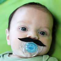 Mustache Boy Pacifier RED Johnny Depp Style | Luulla