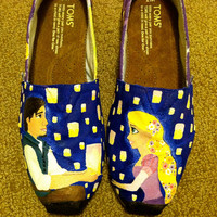 custom hand painted TOMS by LaurasAfternoon on Etsy