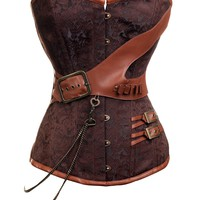 Brown Steampunk Overbust