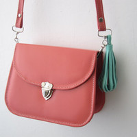 Etsy Transaction -        Pupa leather bag tassel cross body strap