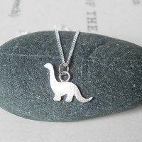 Dinosaur Necklace In Sterling Silver, The Brontosaurus Version | Luulla