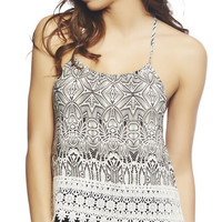 Crochet Trim Halter Cami | Wet Seal