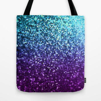 Mosaic Sparkley Texture G198 Tote Bag by MedusArt