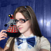 Tardis Bow Tie Custom designed fabric custom by corsetwonderland