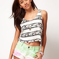 River Island | River Island Stripe Crop Tank at ASOS