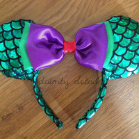 disney inspired ARIEL LITTLE MERMAID ears