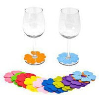 Flower Wine Glass Markers - Anvil Home