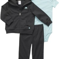 Carter's Baby Boys' 3 Pc Cardigan Set  - Grey Turtle -  Newborn