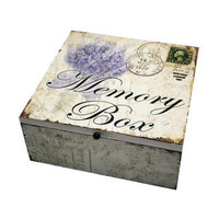 Wooden Memory Box 'Lavender' - Anvil Home