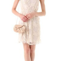 Alice + Olivia Darcy Lace Layover Dress | SHOPBOP