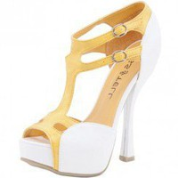 VERY SUMMER FAUX LEATHER T-STRAP SANDAL