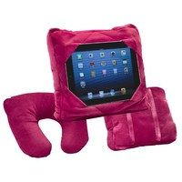 GoGo Pillow Plush Cushion Design Comfort On The Go Travel Relax - Burgundy