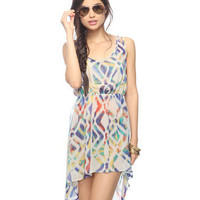 Sheer Ikat Print Dress | FOREVER21 - 2000043071