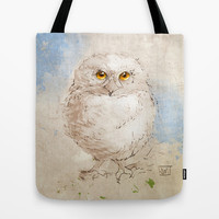 Baby Horned Owl Tote Bag by Jonathan Wilson