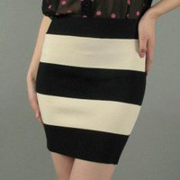 COLORBLOCK BODYCON SKIRT-Skirts-Long Skirts,Mini Skirts,mid-lenth skirts,leather skirt,maxi skirt,pleated skirt,floral skirt,colorful skirts,a line skirt,silk skirt,plus size skirts,sexy skirts