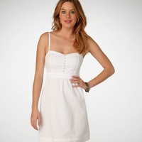 AE Crisp White Corset Dress - American Eagle Outfitters