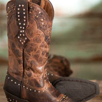 women 39 s ariat rhinestone leather cowboy from amazon. Black Bedroom Furniture Sets. Home Design Ideas