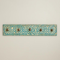 HAND-PAINTED RAYA 5-HOOK WALL DECOR