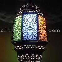 Octagonal Moroccan Antique Style Lighting Glass by click2egyptCOM