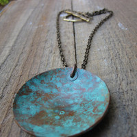 The Blues Necklace Copper Patina by CopperTreeArt on Etsy