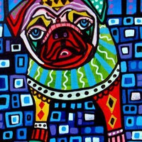 Pug Dog Pet Art | HeatherGaller - Pets on ArtFire