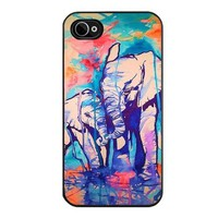 Unique! Cool Elephant Family Print Hard Back Case Cover Cool Design Snap on Case For Apple iphone 5 5S