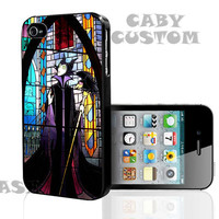 Maleficent Pattern Sleeping beauty Glass on iPhone 4 / iPhone 4S / iPhone 5 / Samsung S2 / Samsung S3 / Samsung S4 Case Cover